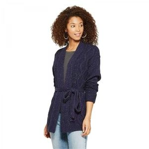 NWT Universal Thread Sweater with Belt XS Navy